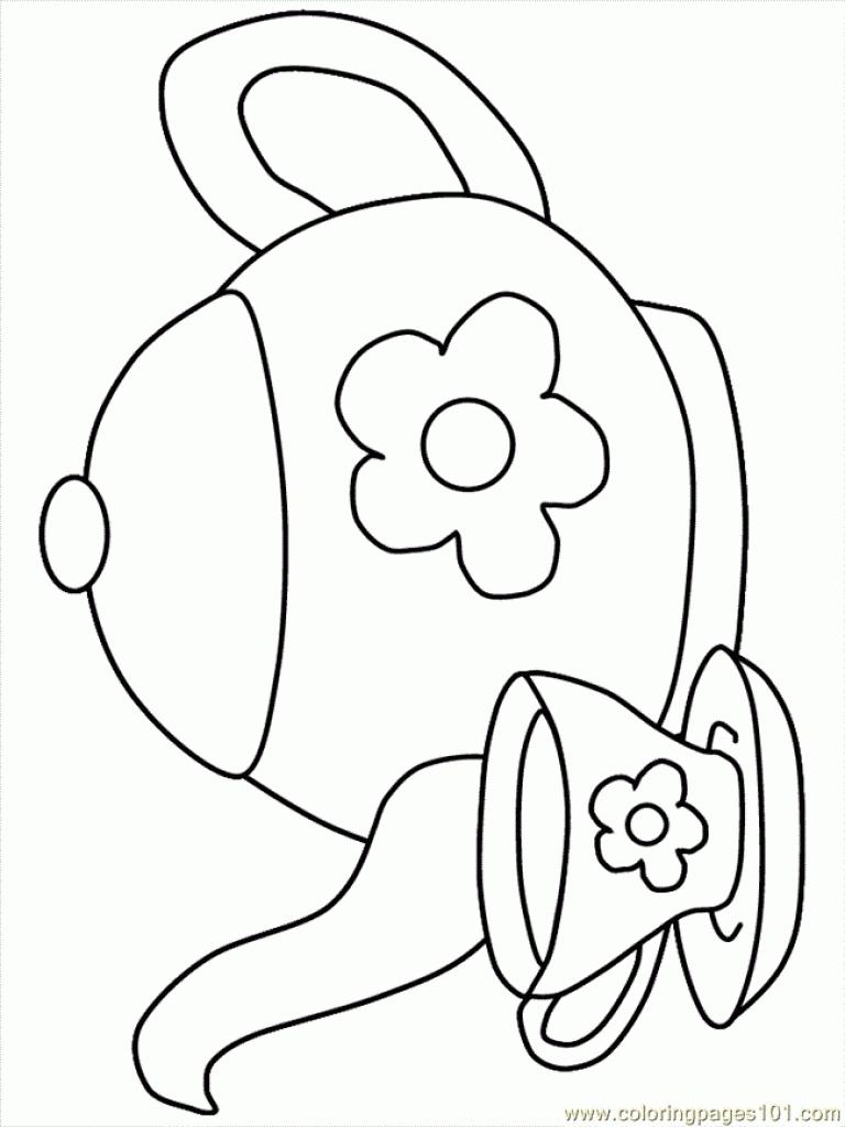 Tea Cup coloring #8, Download drawings