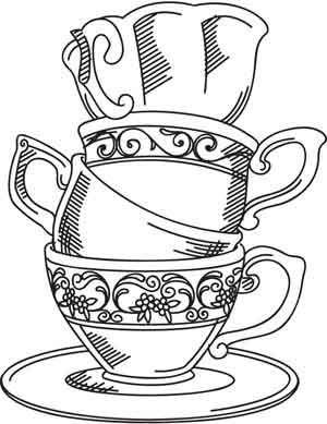 Tea Cup coloring #13, Download drawings