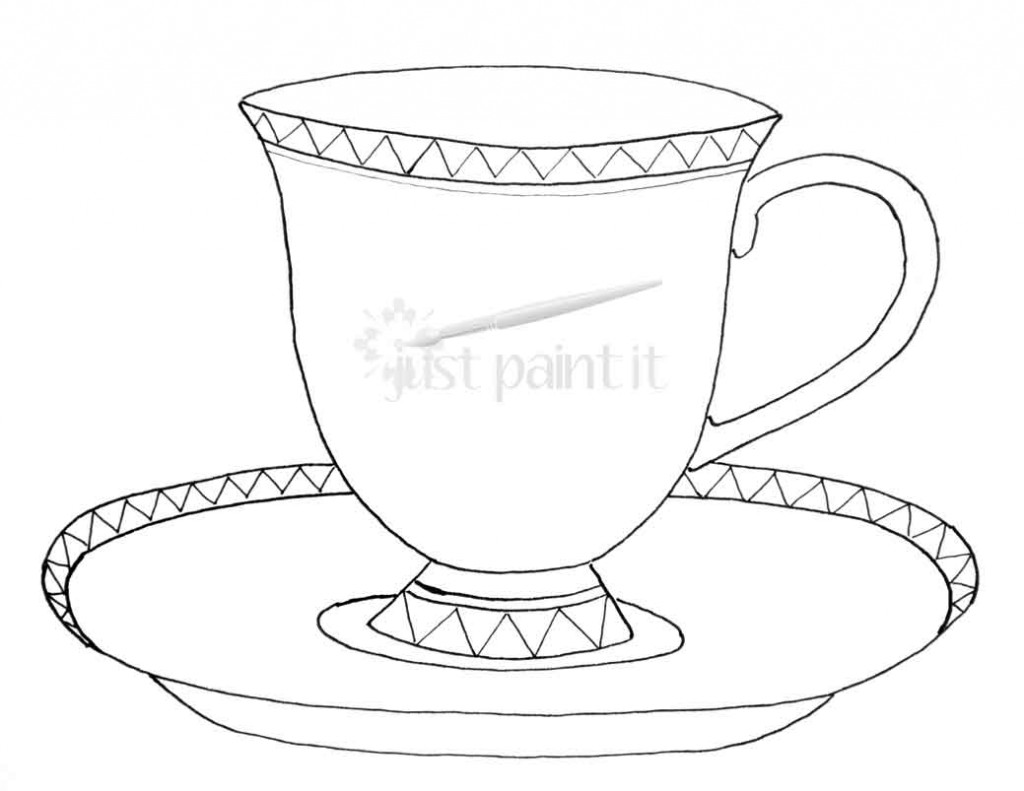 simple coloring pages of tea cups | Tea Cup coloring, Download Tea Cup coloring for free 2019