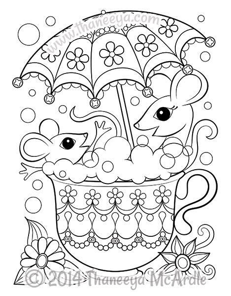 Tea Cup coloring #5, Download drawings