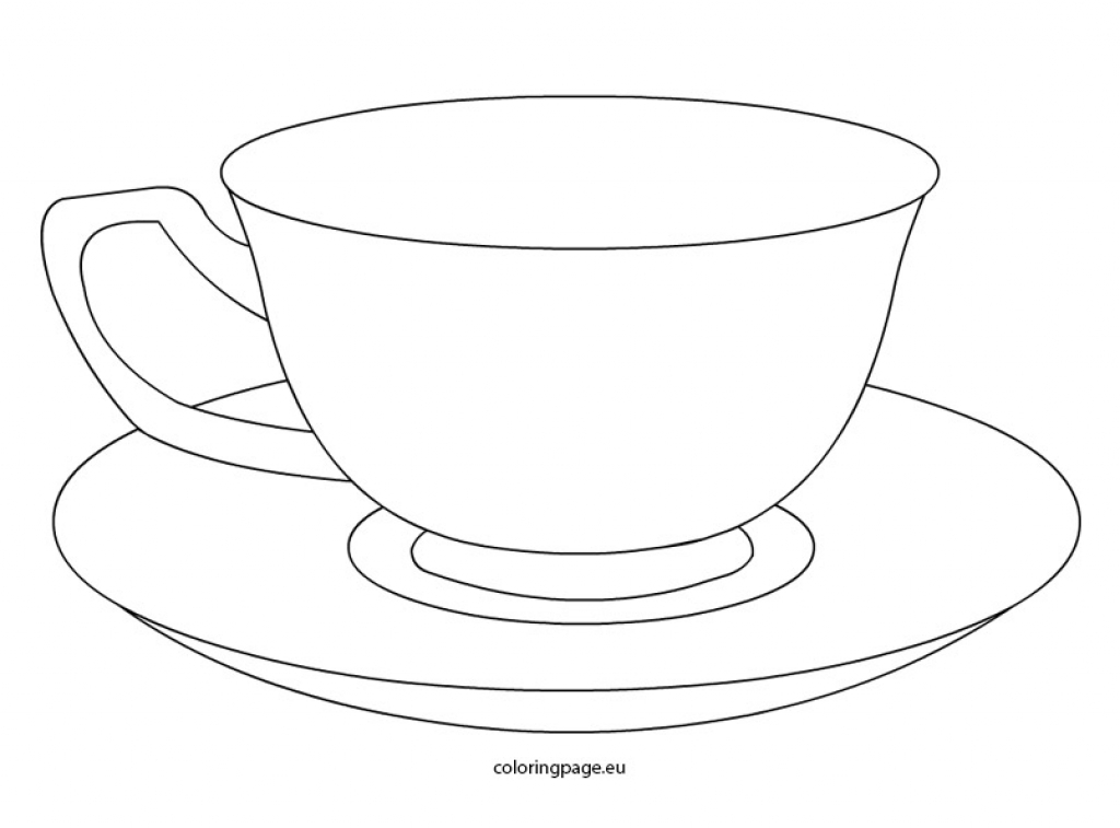Tea Cup coloring #6, Download drawings