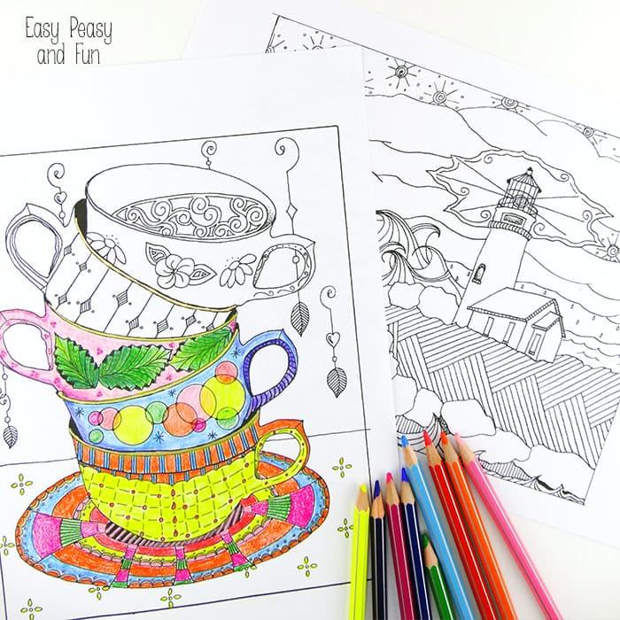 Tea Cup coloring #4, Download drawings