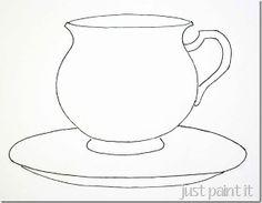 Tea Cup coloring #10, Download drawings