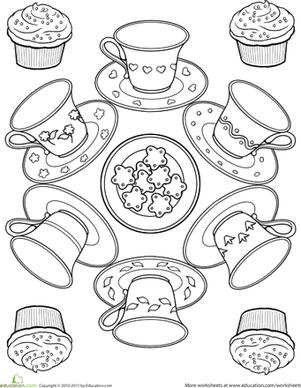 Tea Cup coloring #15, Download drawings