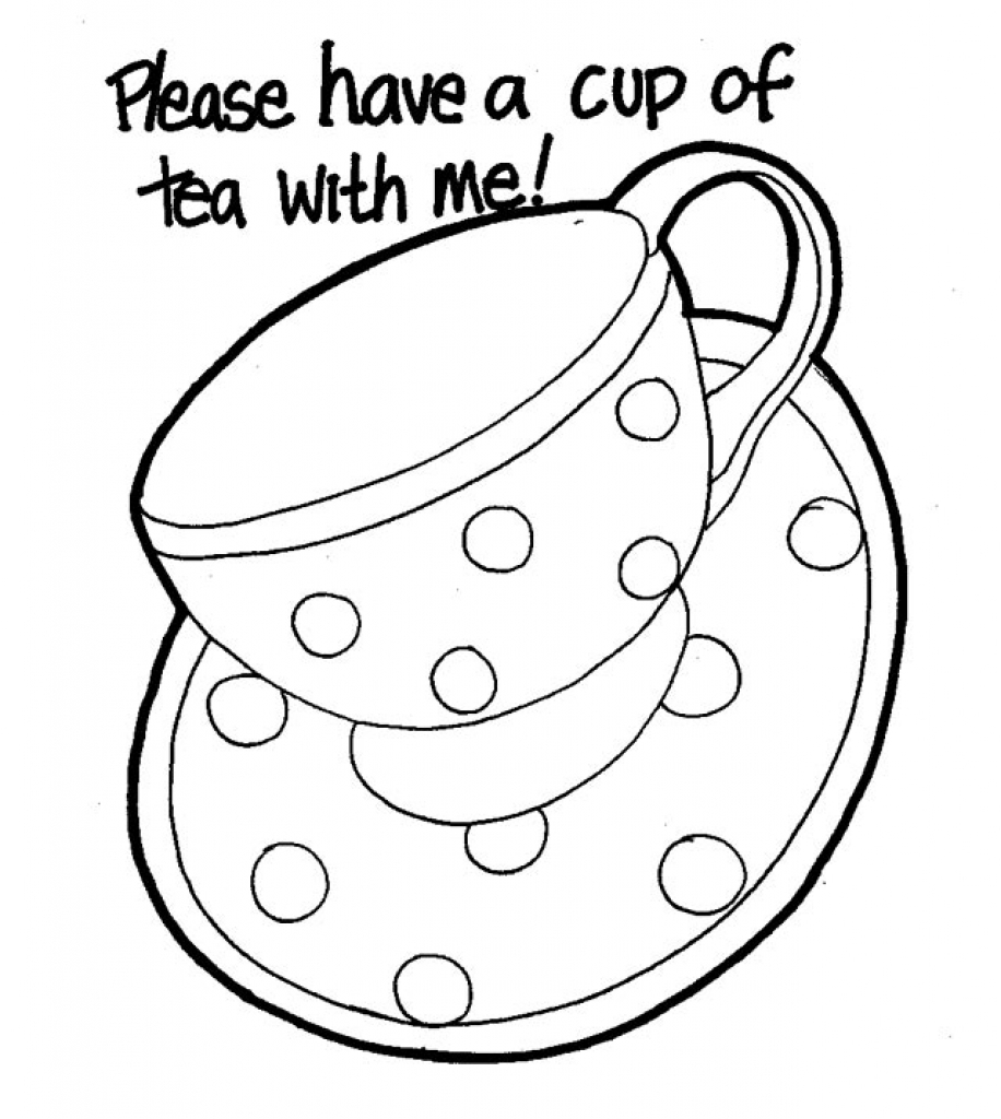 printable tea cup coloring pages - photo#30