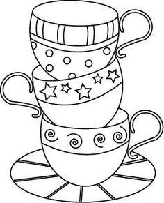 Tea Cup coloring #19, Download drawings