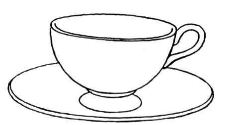 Tea Cup coloring #18, Download drawings