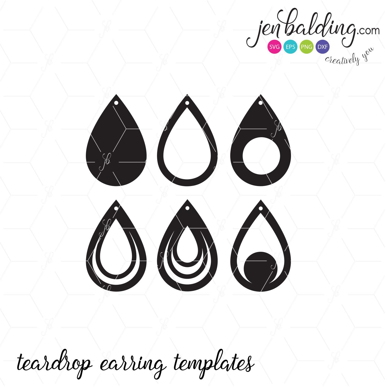 teardrop earring svg #625, Download drawings