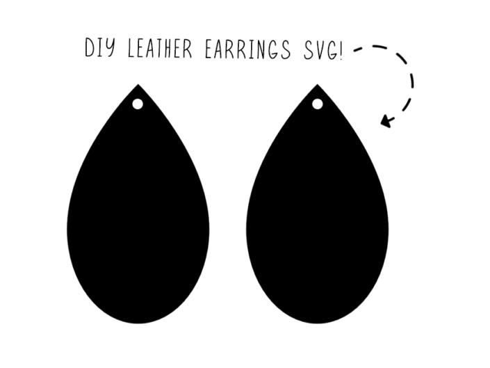 teardrop earring svg #627, Download drawings