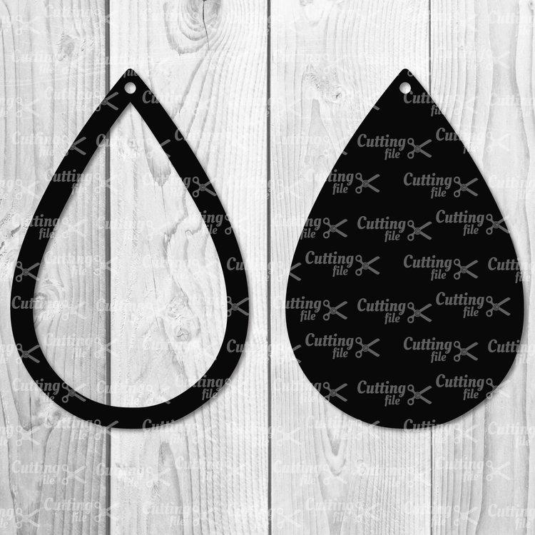 teardrop earring svg #626, Download drawings