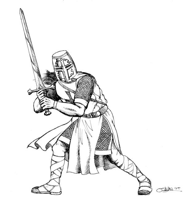 Templar coloring #17, Download drawings