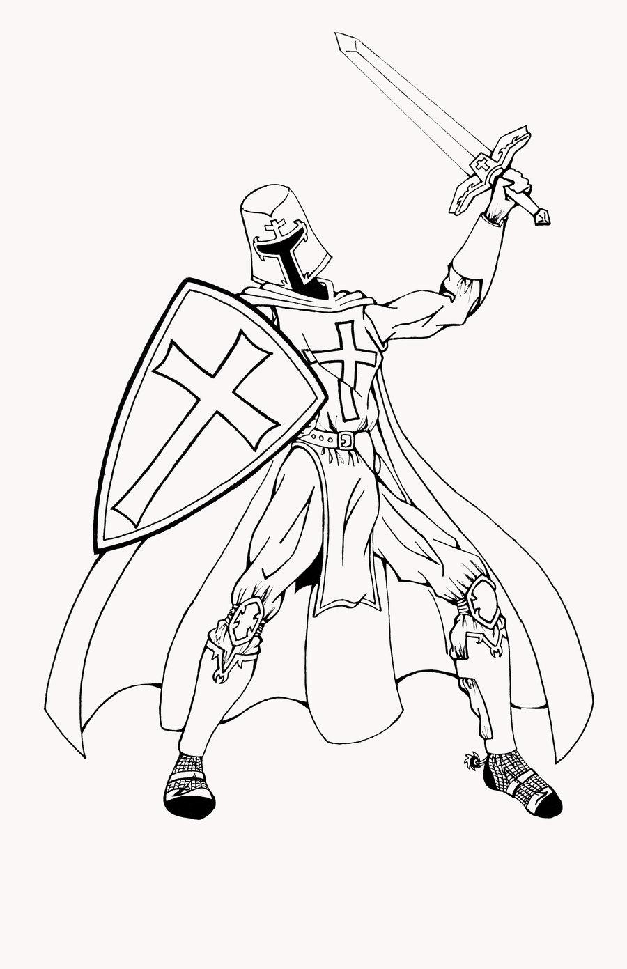 Templar coloring #20, Download drawings