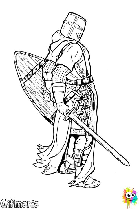 Templar coloring #18, Download drawings