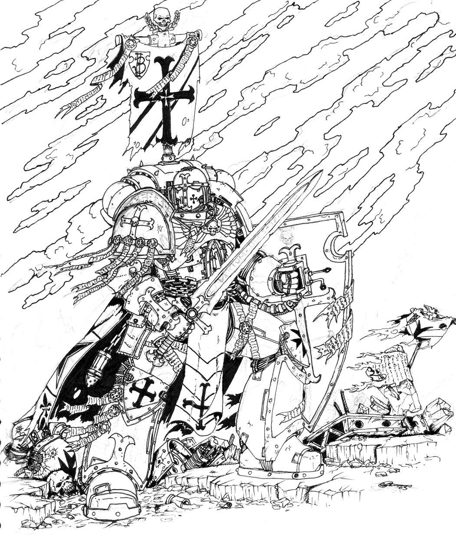 Templar coloring #4, Download drawings