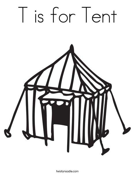 Tent coloring #5, Download drawings