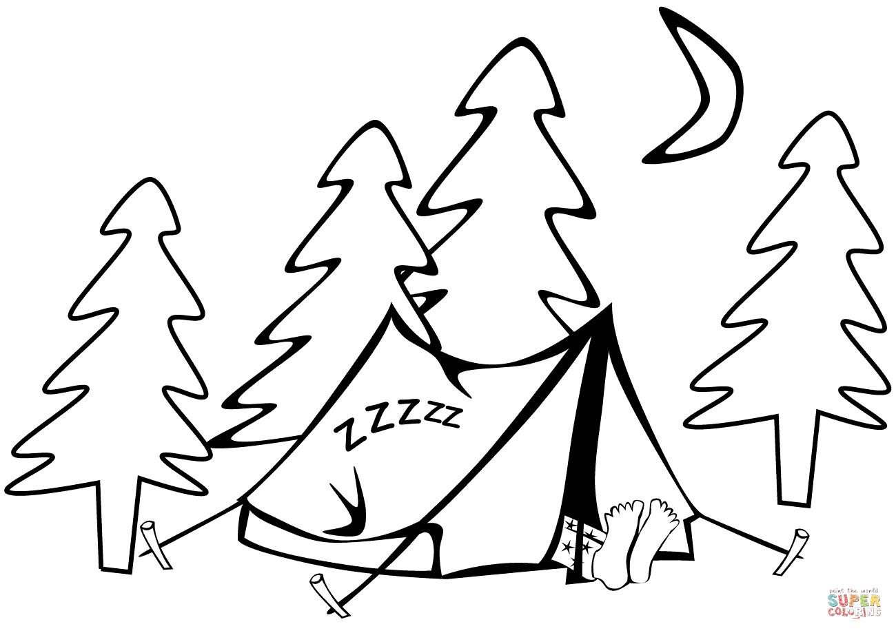 Tent coloring #15, Download drawings