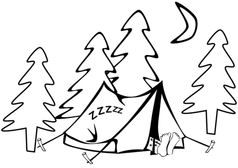 Tent coloring #14, Download drawings