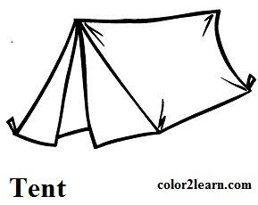 Tent coloring #12, Download drawings