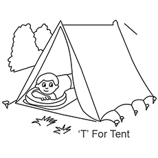 Tent coloring #17, Download drawings