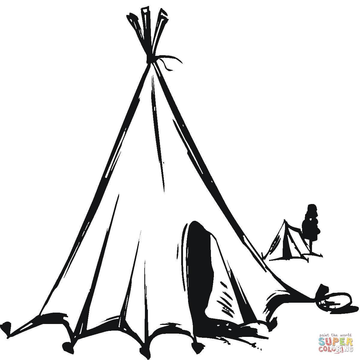 Tent coloring #9, Download drawings