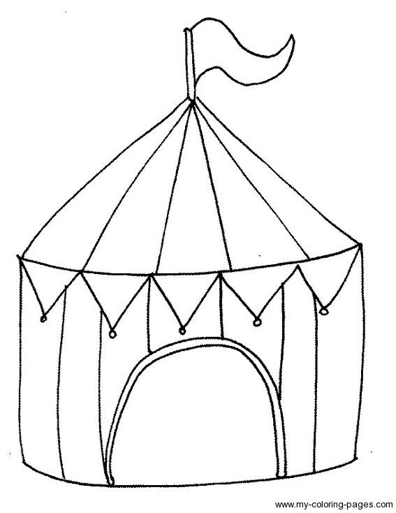 Tent coloring #11, Download drawings