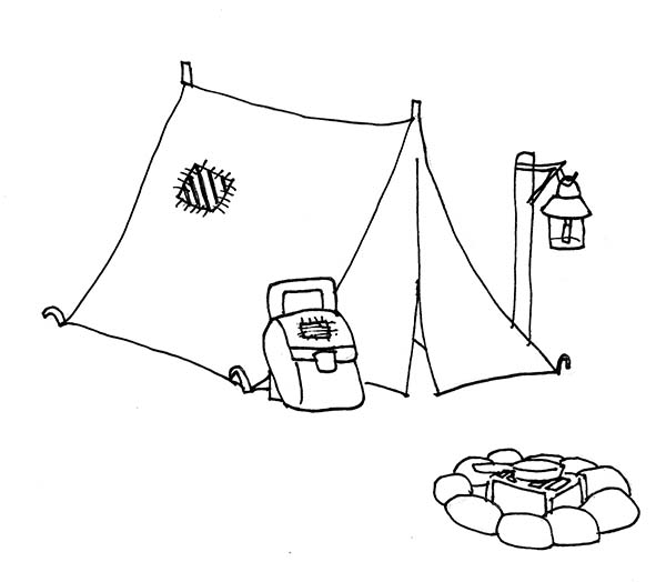 Tent coloring #1, Download drawings