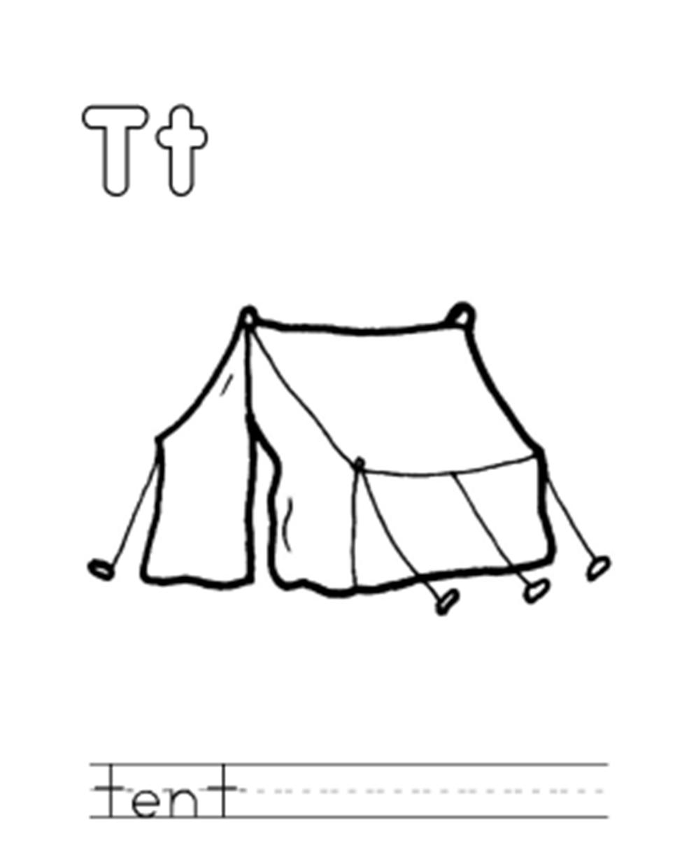 Tent coloring #13, Download drawings