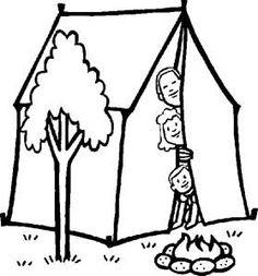 Tent coloring #4, Download drawings