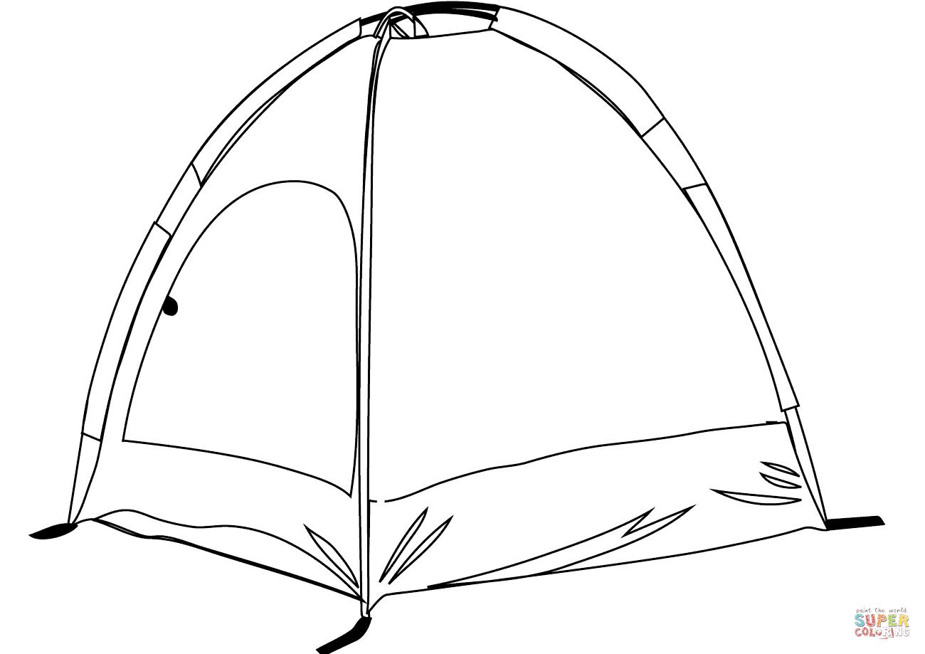 Tent coloring #16, Download drawings