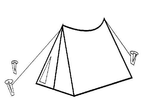 Tent coloring #19, Download drawings