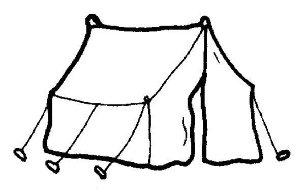 Tent coloring #10, Download drawings