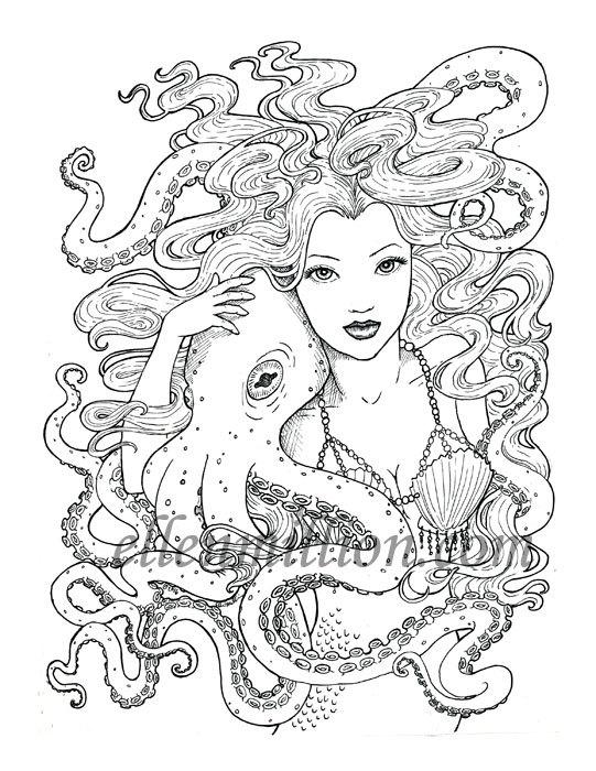 Tentacle coloring #11, Download drawings