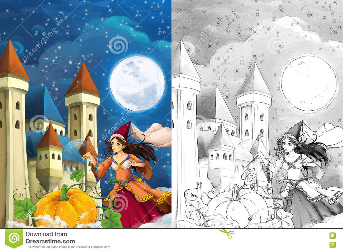 The Autumn Palace coloring #4, Download drawings