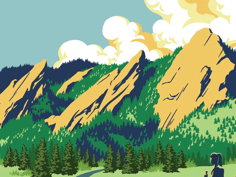 The Flatirons clipart #8, Download drawings