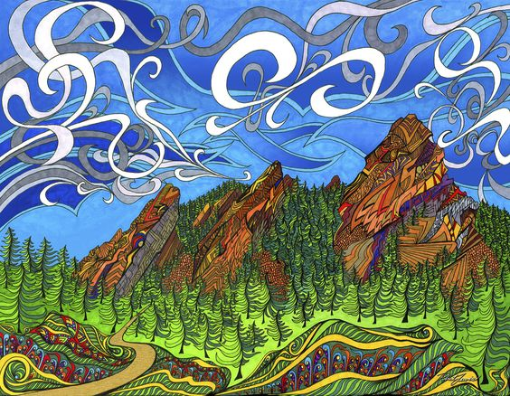 The Flatirons coloring #19, Download drawings