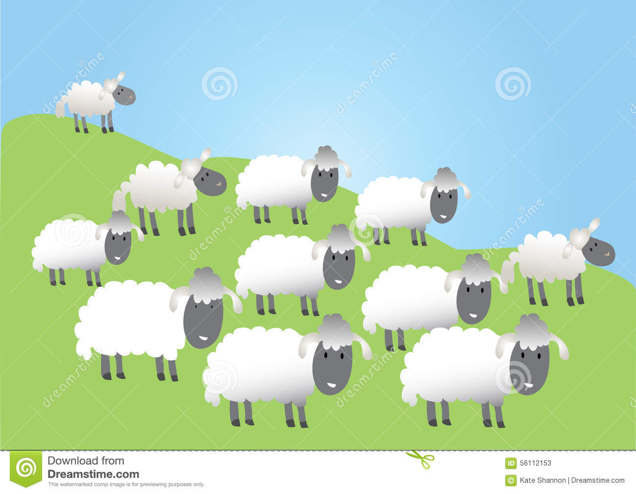 The Flock clipart #10, Download drawings