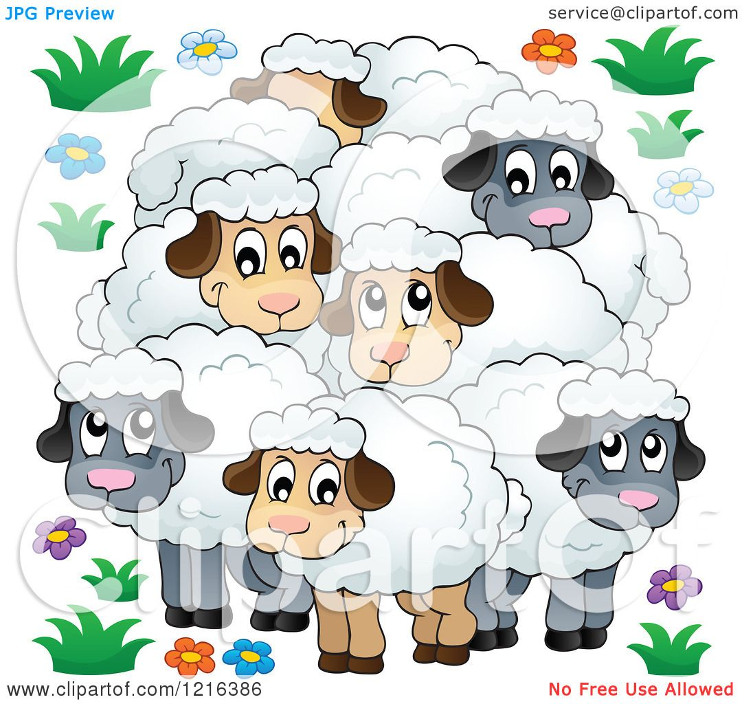 The Flock clipart #4, Download drawings