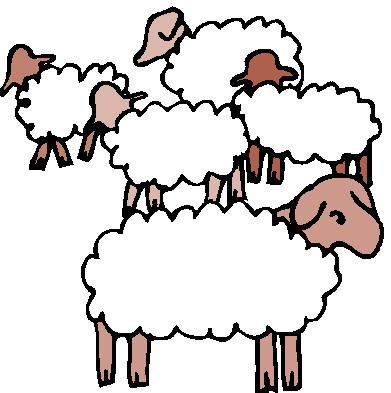 The Flock clipart #6, Download drawings