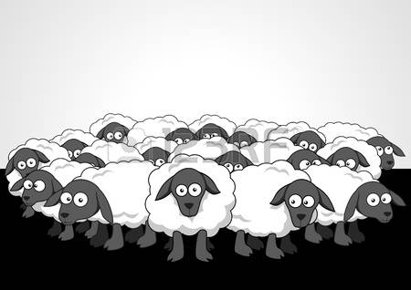 The Flock clipart #5, Download drawings
