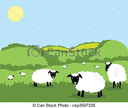 The Flock clipart #3, Download drawings