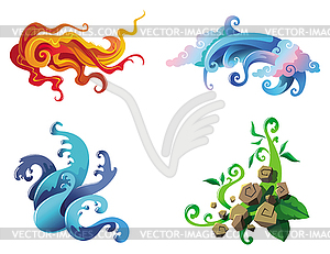The Four Elements clipart #1, Download drawings