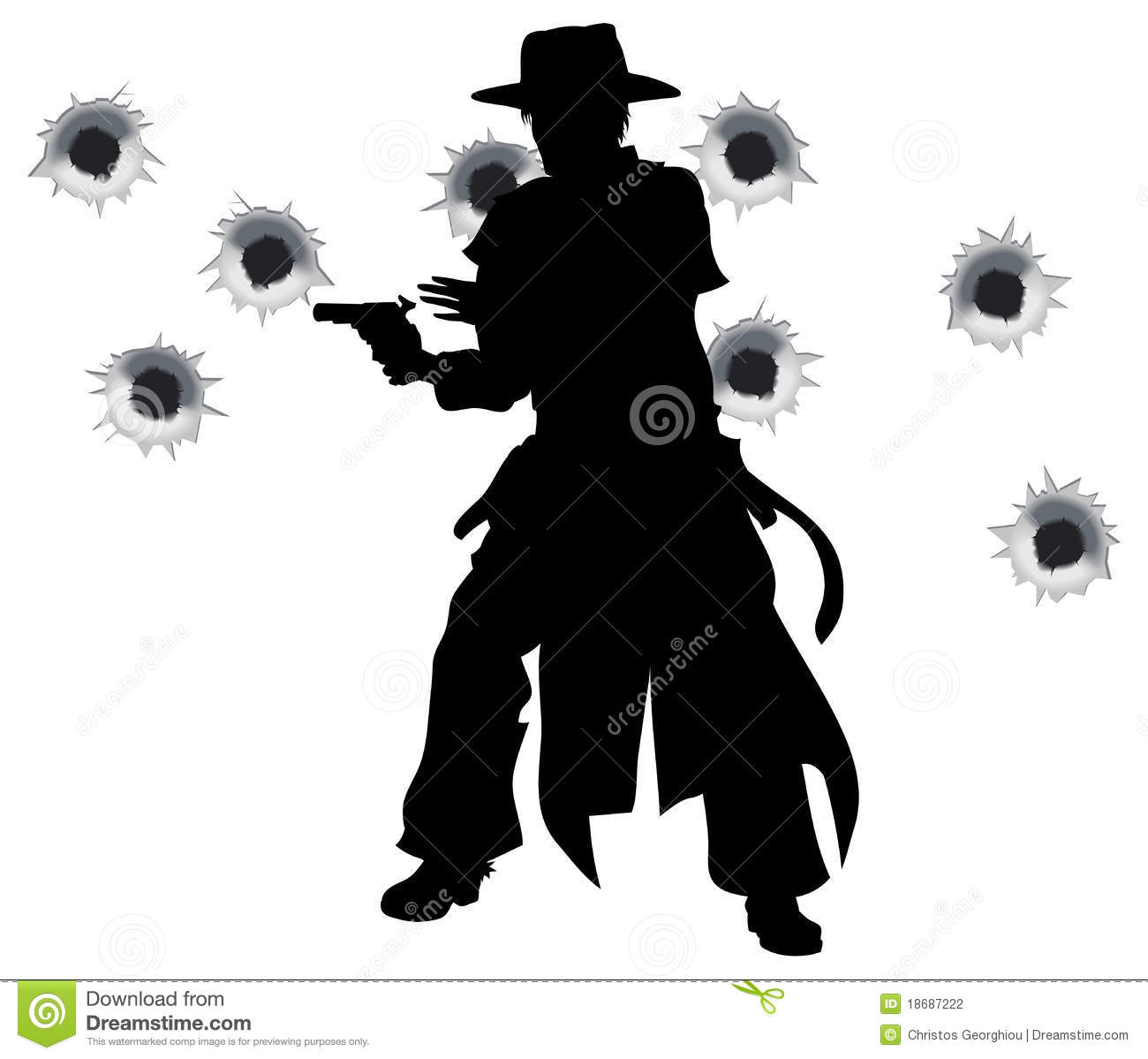 The Gunslinger clipart #7, Download drawings