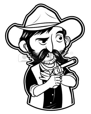 The Gunslinger clipart #1, Download drawings