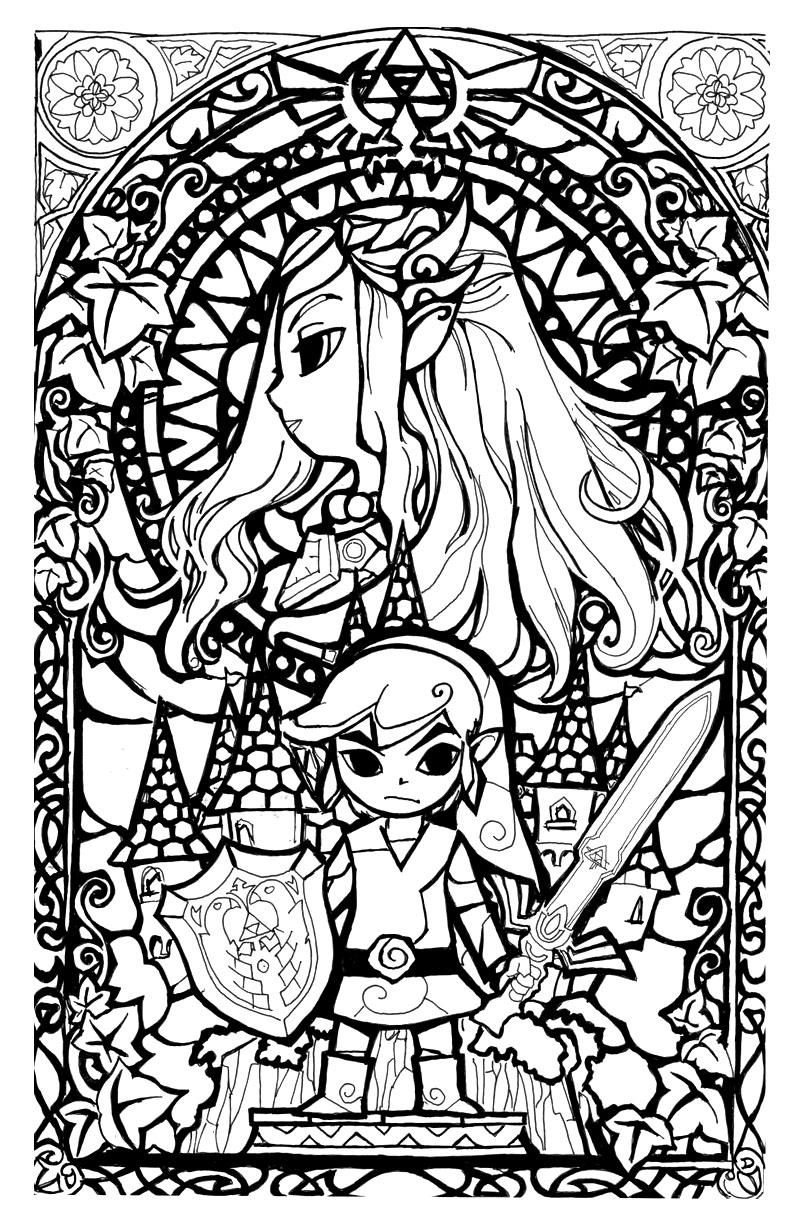 The Legend Of Zelda coloring #12, Download drawings