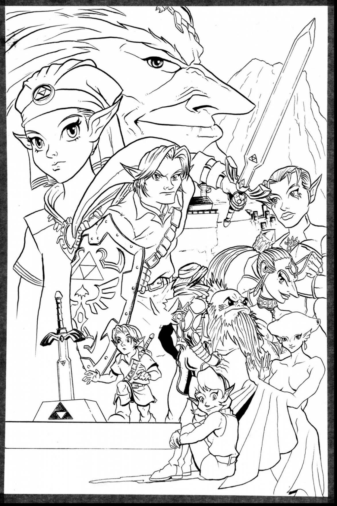 The Legend Of Zelda coloring #11, Download drawings