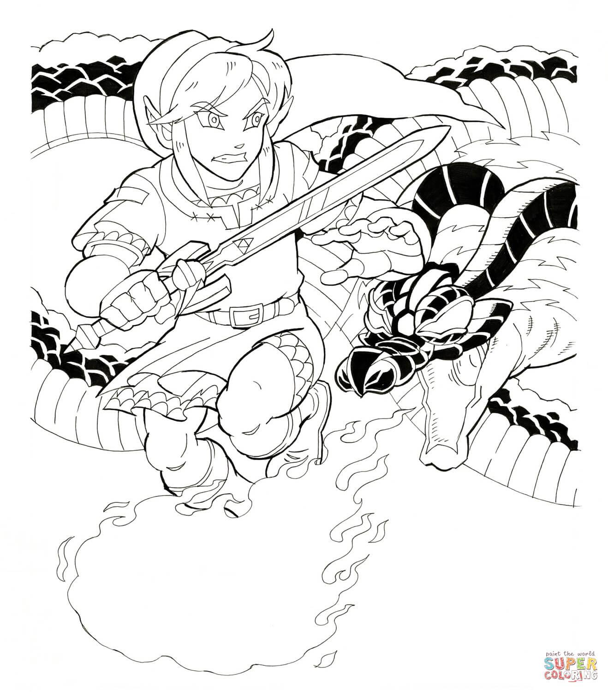 The Legend Of Zelda coloring #13, Download drawings