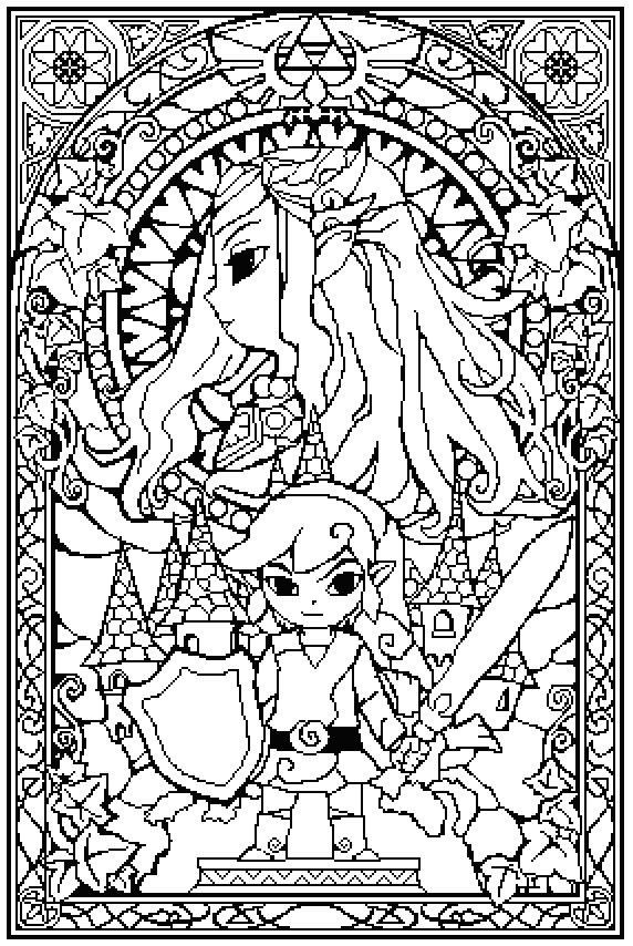 The Legend Of Zelda coloring #4, Download drawings