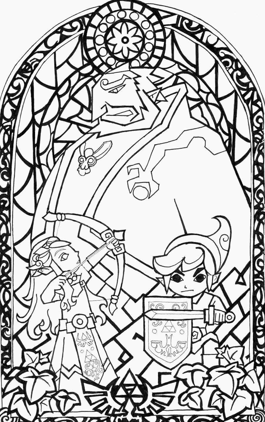 The Legend Of Zelda coloring #3, Download drawings