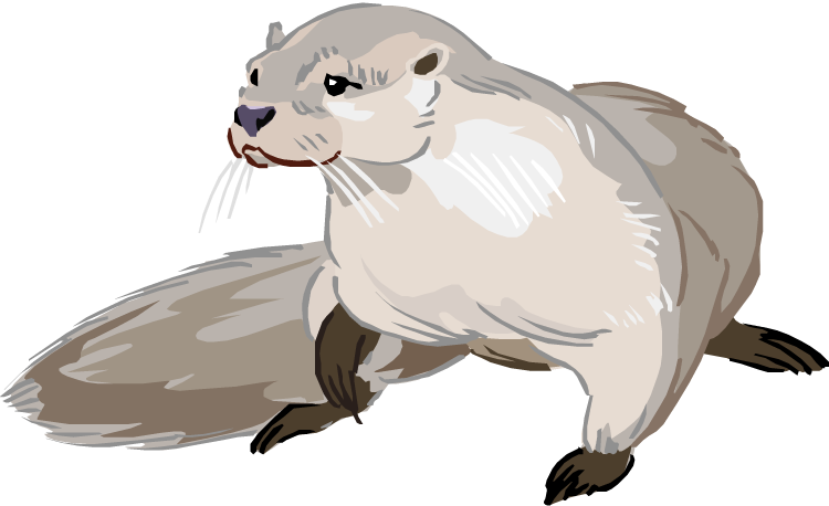 The Otter clipart #2, Download drawings