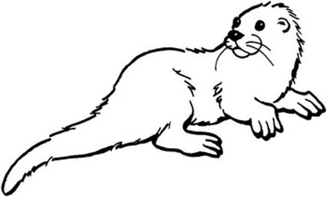 The Otter clipart #4, Download drawings